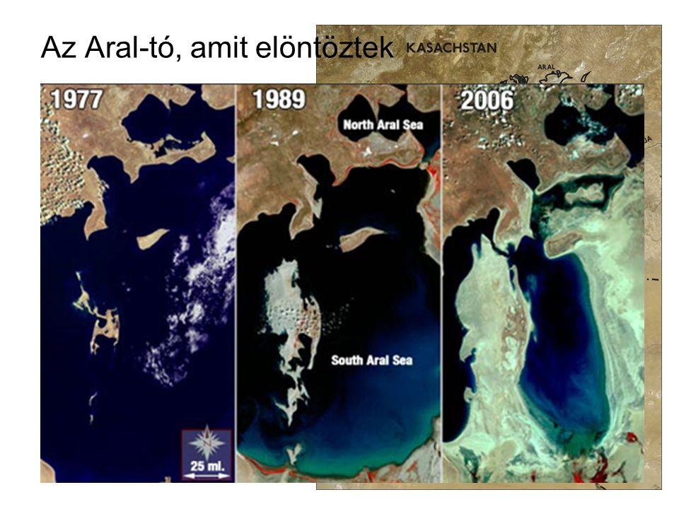 Az Aral-tó, amit elöntöztek