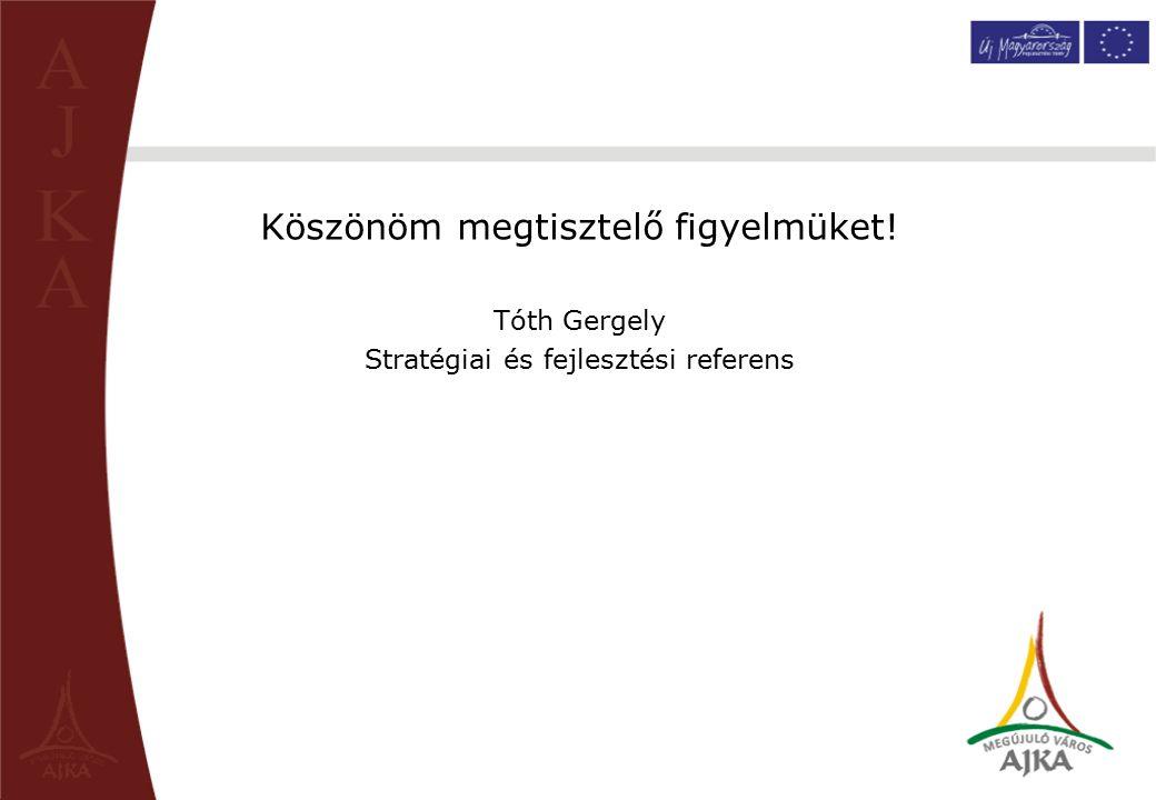 Helyszíni szemle értékelése Köszönöm megtisztelő figyelmüket! Tóth Gergely Stratégiai és fejlesztési referens