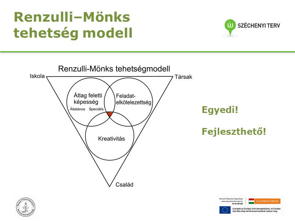 Renzulli–Mönks tehetség modell Egyedi! Fejleszthető!