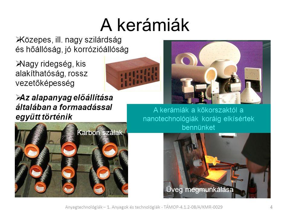 A polimerek elterjedése Anyagtechnológiák – 1.