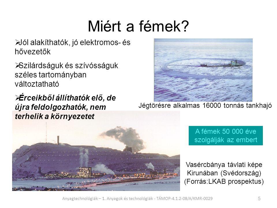 A világ kőolajtermelése Anyagtechnológiák – 1.