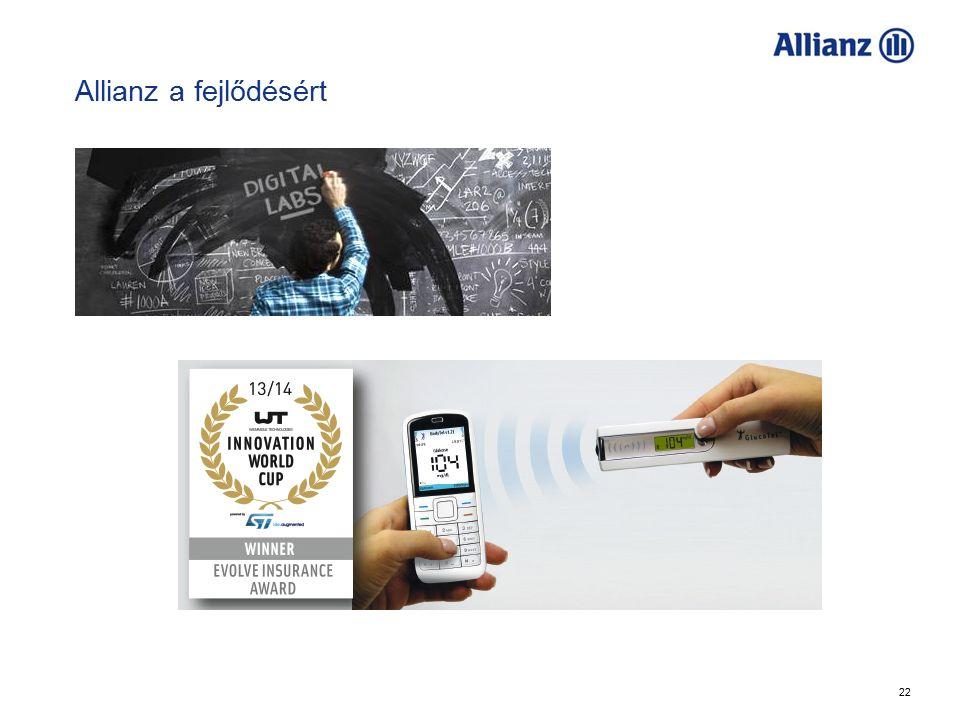 22 Allianz a fejlődésért Allianz