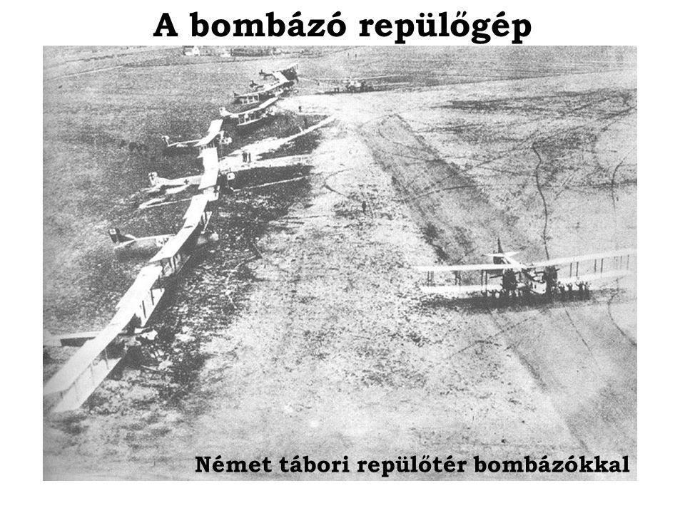 A bombázó repülőgép Német tábori repülőtér bombázókkal