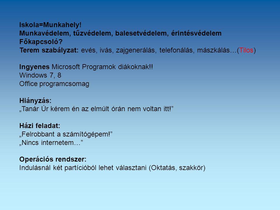Multimédia-Hypermédia A multimédia: szöveg, hang, valamint kép illetve mozgókép együttese.