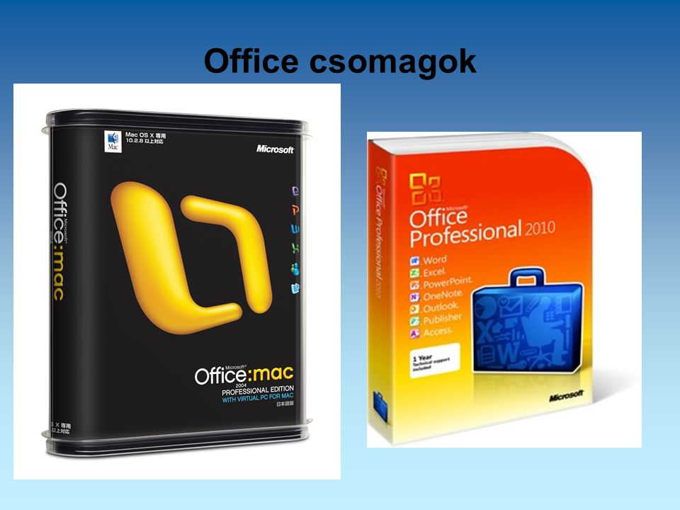Office csomagok