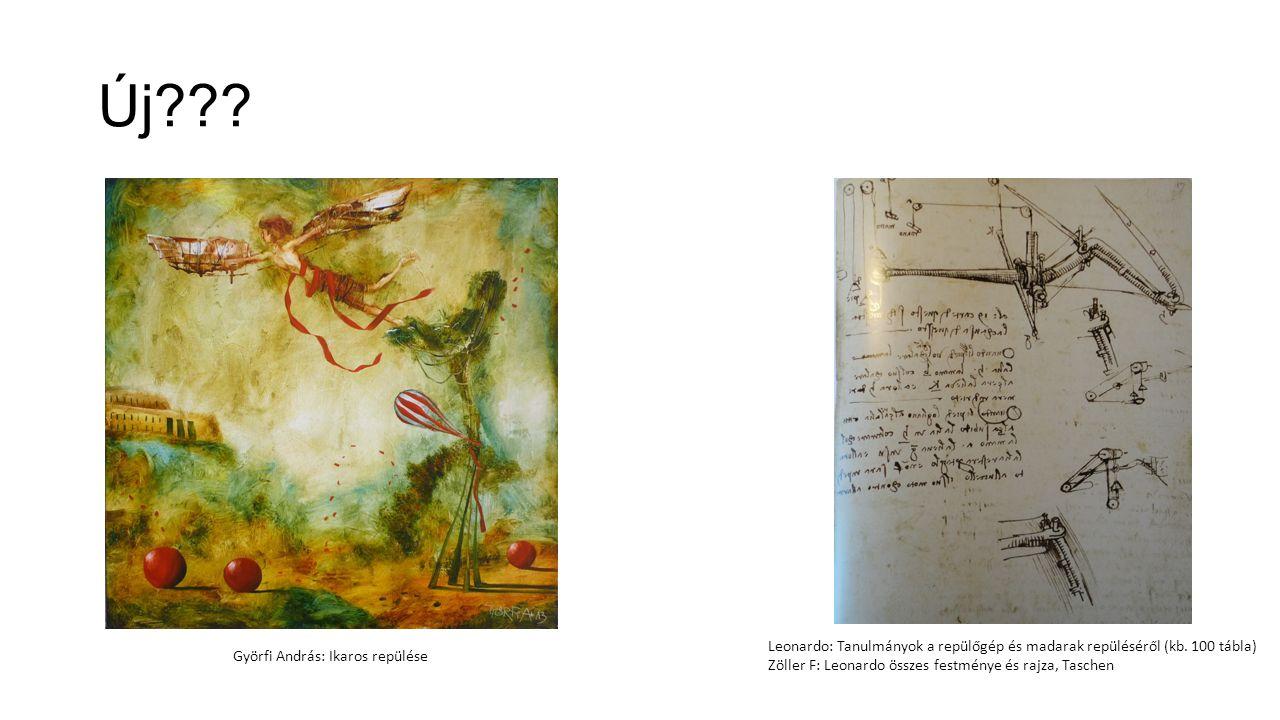 Új??? Györfi András: Ikaros repülése Leonardo: Tanulmányok a repülőgép és madarak repüléséről (kb. 100 tábla) Zöller F: Leonardo összes festménye és r
