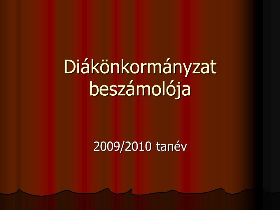 Diákönkormányzat beszámolója 2009/2010 tanév