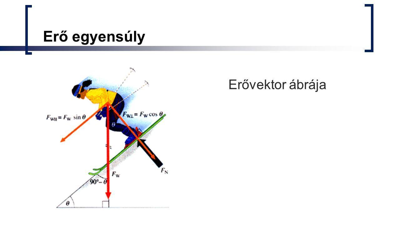 Erő egyensúly Erővektor ábrája