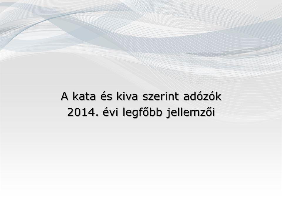 A kata és kiva szerint adózók 2014. évi legfőbb jellemzői
