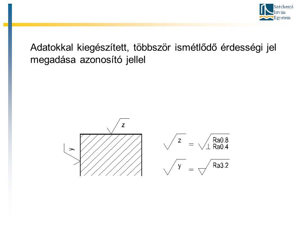 Széchenyi István Egyetem Adatokkal kiegészített, többször ismétlődő érdességi jel megadása azonosító jellel