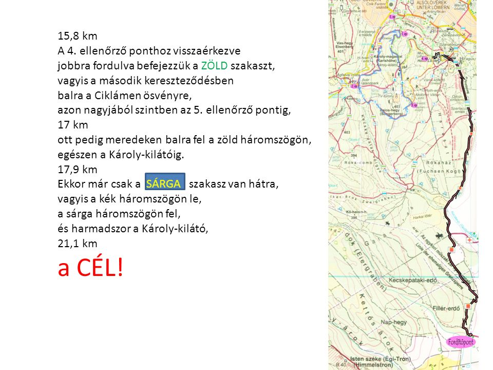 15,8 km A 4.