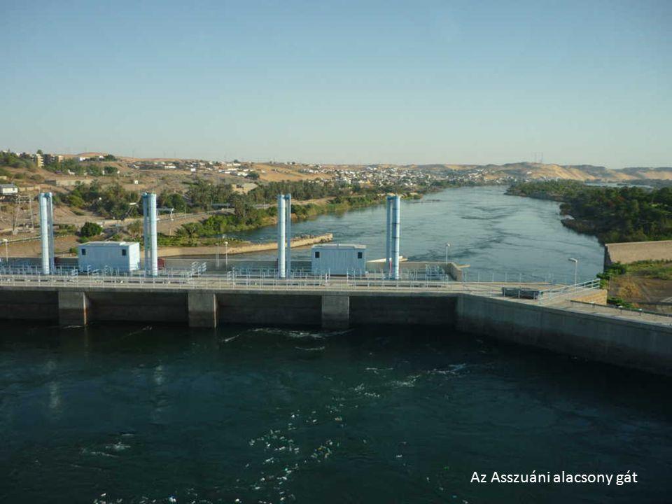 A Nilus első vizesésénél épült alacsony gát