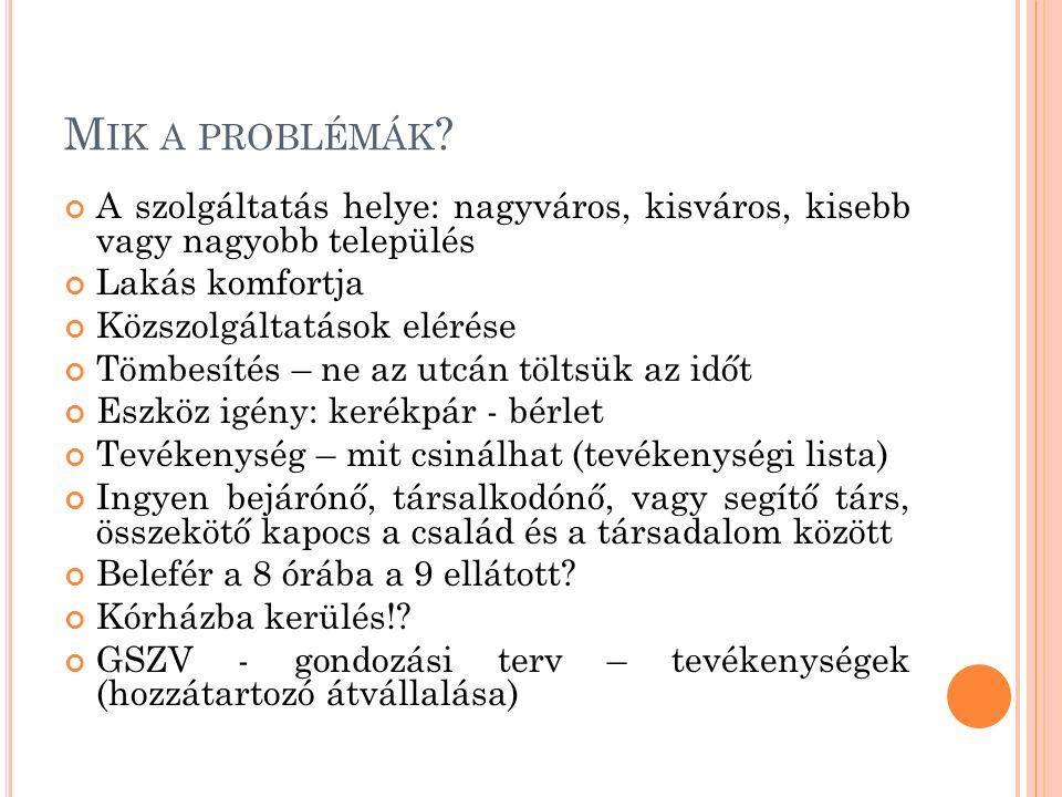 M IK A PROBLÉMÁK .