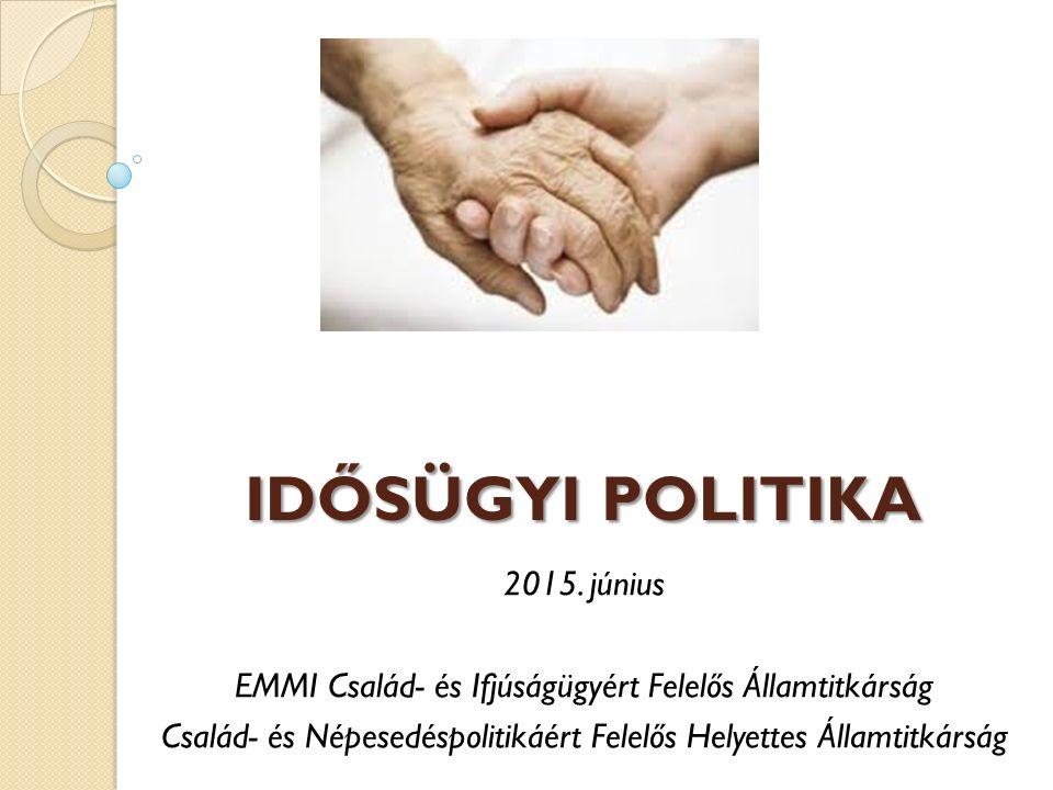 IDŐSÜGYI POLITIKA 2015. június EMMI Család- és Ifjúságügyért Felelős Államtitkárság Család- és Népesedéspolitikáért Felelős Helyettes Államtitkárság