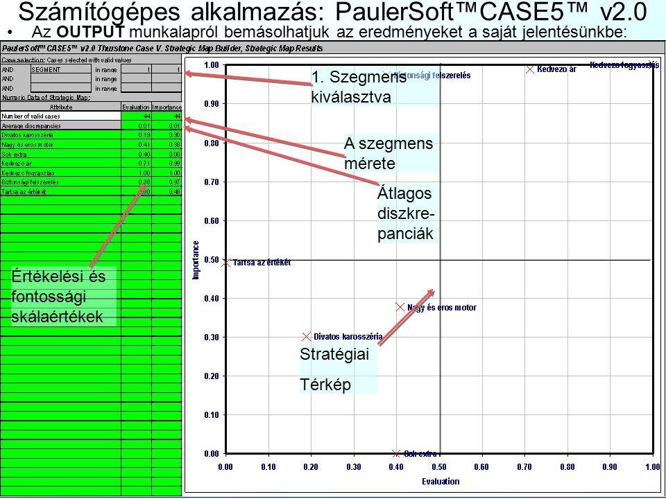 Számítógépes alkalmazás: PaulerSoft™CASE5™ v2.0 Váltsunk át a PROCESSING munkalapra, és állítsunk be minden adatot: A fontosságok 1.