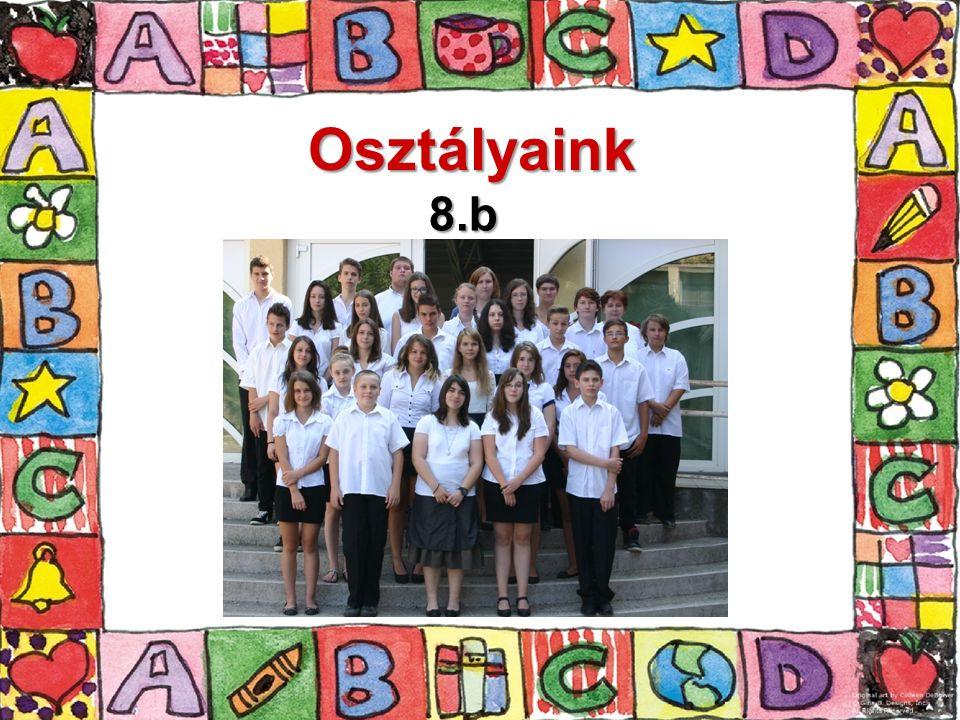 Osztályaink 8.b