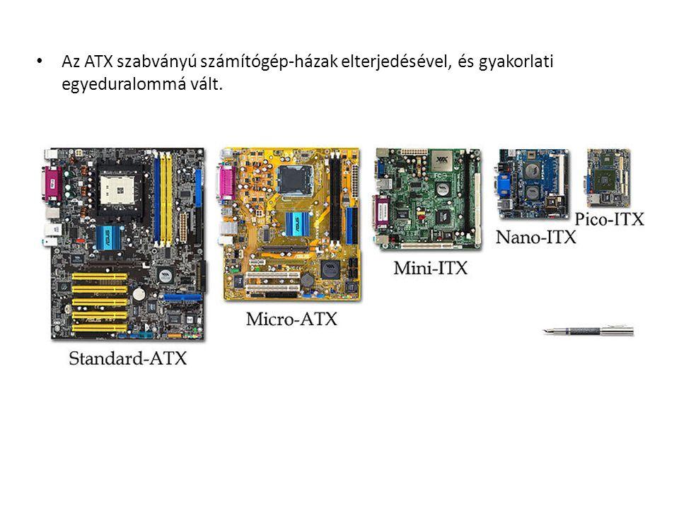 Az ATX szabványú számítógép-házak elterjedésével, és gyakorlati egyeduralommá vált.
