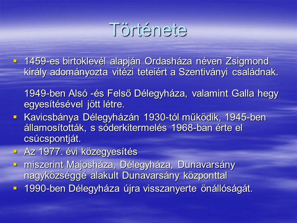 Története  1459-es birtoklevél alapján Ordasháza néven Zsigmond király adományozta vitézi teteiért a Szentiványi családnak.
