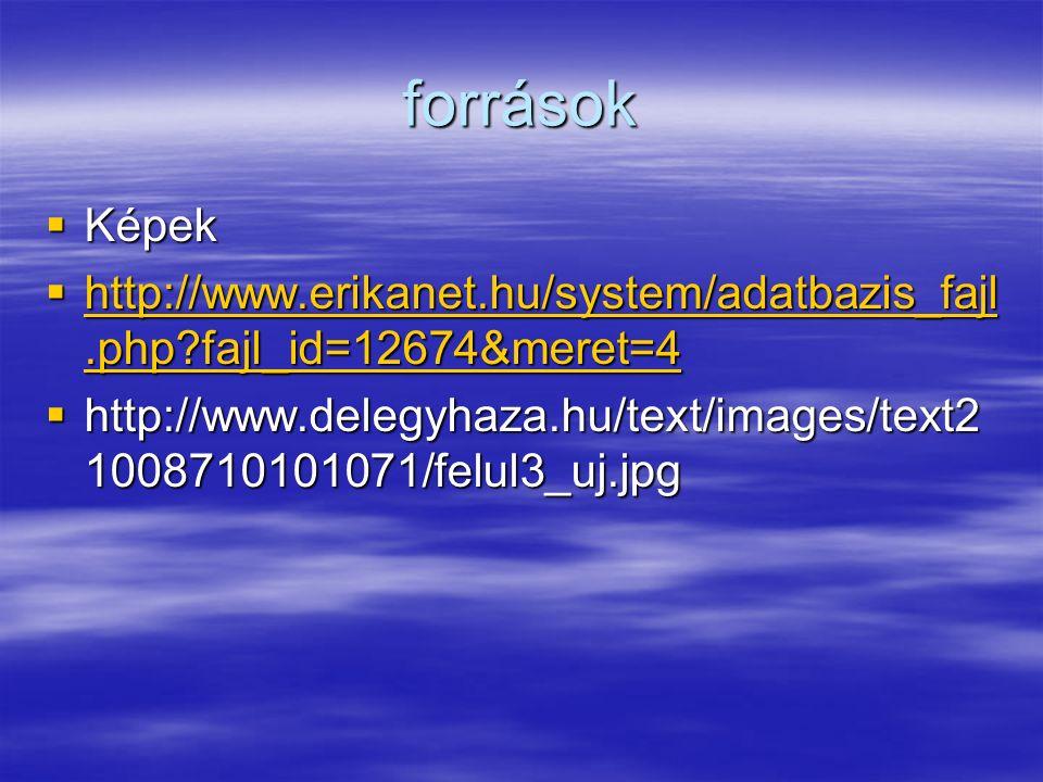források  Képek  http://www.erikanet.hu/system/adatbazis_fajl.php?fajl_id=12674&meret=4 http://www.erikanet.hu/system/adatbazis_fajl.php?fajl_id=12674&meret=4 http://www.erikanet.hu/system/adatbazis_fajl.php?fajl_id=12674&meret=4  http://www.delegyhaza.hu/text/images/text2 1008710101071/felul3_uj.jpg