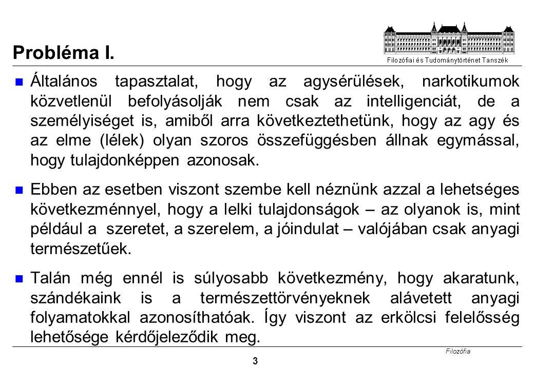 Filozófia 3 Probléma I.