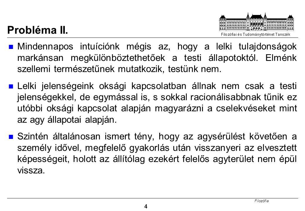 Filozófia 4 Probléma II.