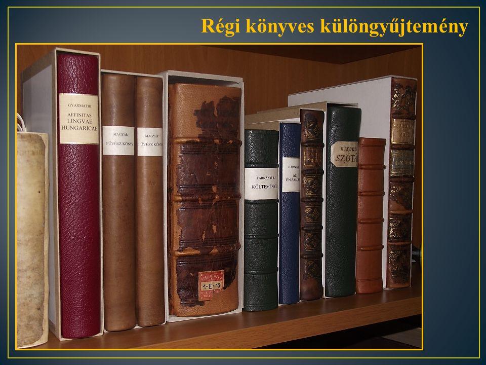 Régi könyves különgyűjtemény