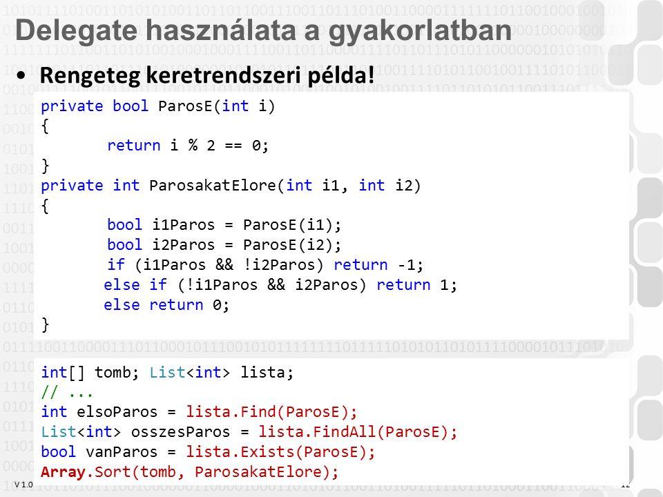 V 1.0 OE-NIK HP 12 Rengeteg keretrendszeri példa.