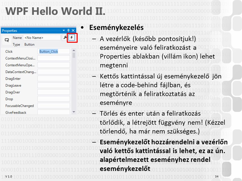 V 1.0 WPF Hello World II.