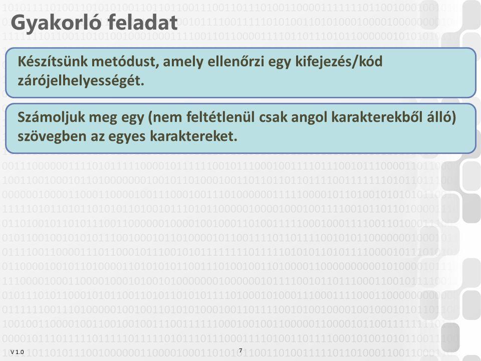 V 1.0 Listavezérlők ListBox (lista) –Items tulajdonság tartalmazza az elemeket –SelectionChanged esemény ComboBox (legördülő lista) –Items tulajdonság tartalmazza az elemeket –SelectionChanged esemény TreeView + TreeViewItem (fanézet) –Items tartalmazza az elemeket Ha TreeViewItem van benne, azon belül is Items tartalmazza az elemeket, Header a szöveget 38
