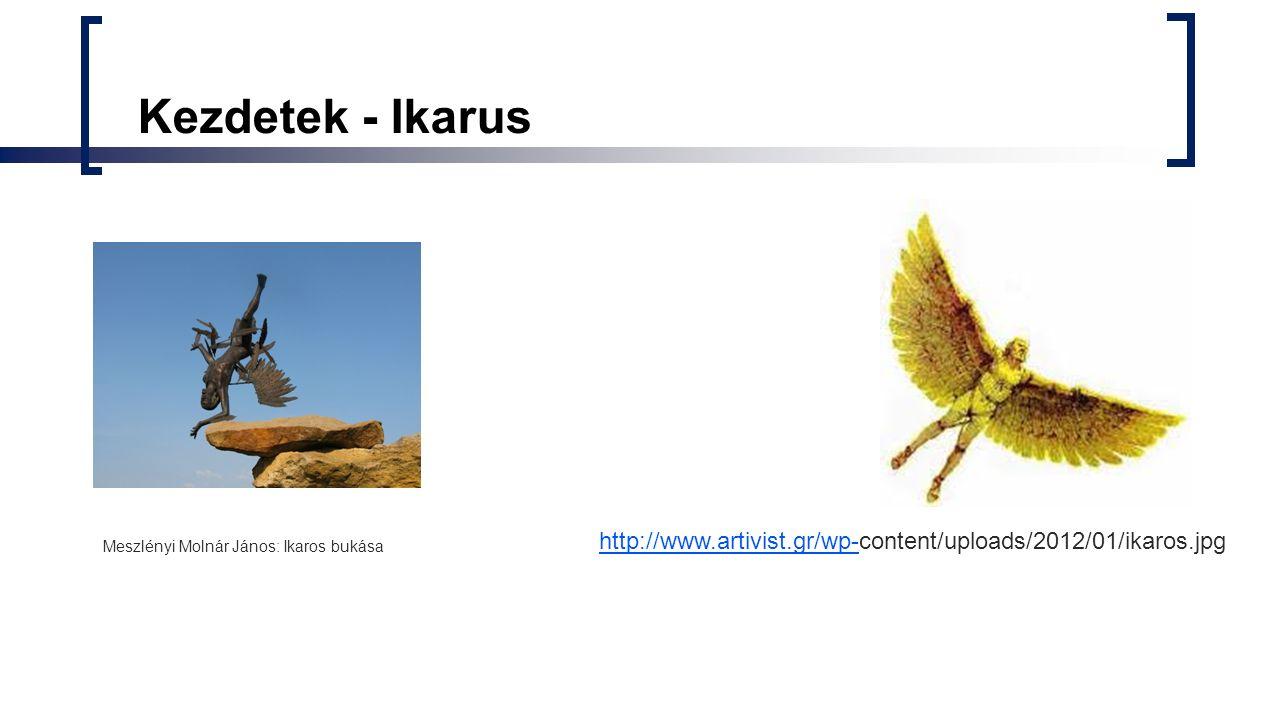 Kezdetek - Ikarus Meszlényi Molnár János: Ikaros bukása http://www.artivist.gr/wp-http://www.artivist.gr/wp-content/uploads/2012/01/ikaros.jpg