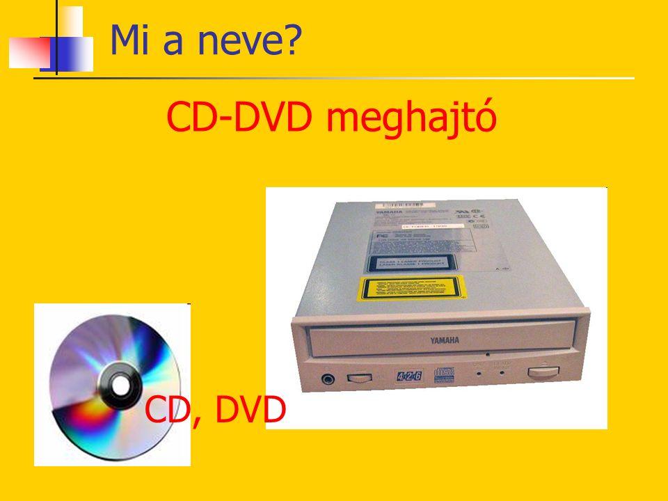 Hajlékonylemez meghajtó Mi a neve? Floppy Kislemez Kislemez meghajtó