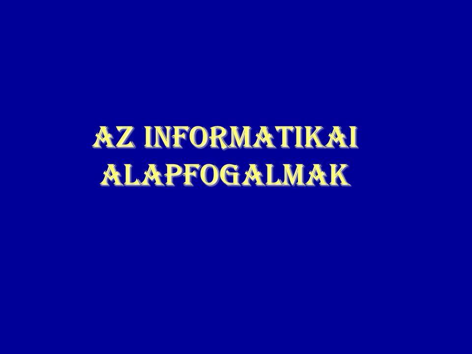 Az informatikai alapfogalmak