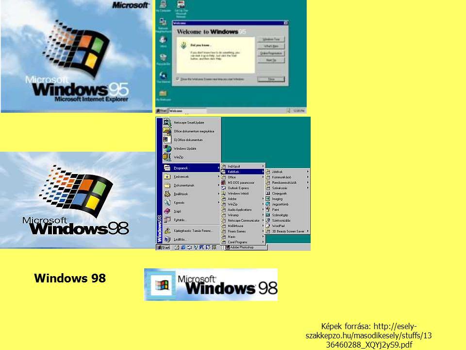 Windows 98 Képek forrása: http://esely- szakkepzo.hu/masodikesely/stuffs/13 36460288_XQYj2yS9.pdf