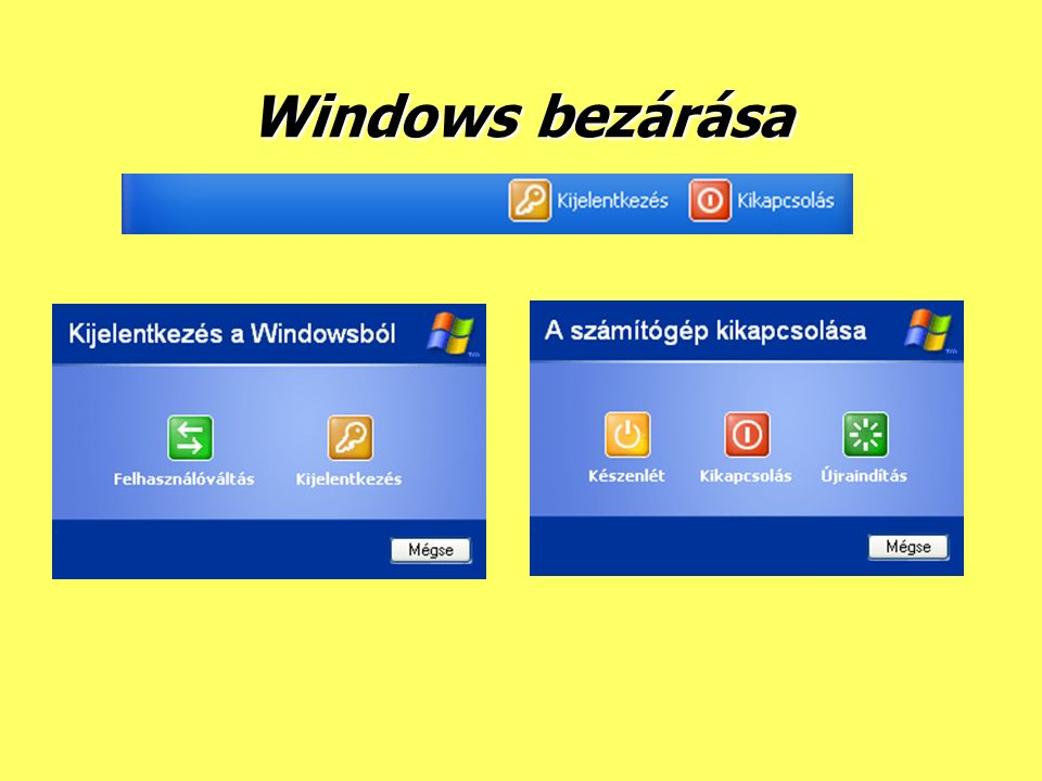 Windows bezárása
