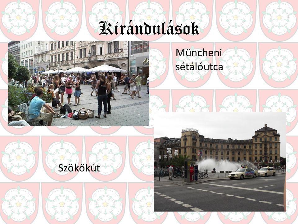 Kirándulások Müncheni sétálóutca Szökőkút