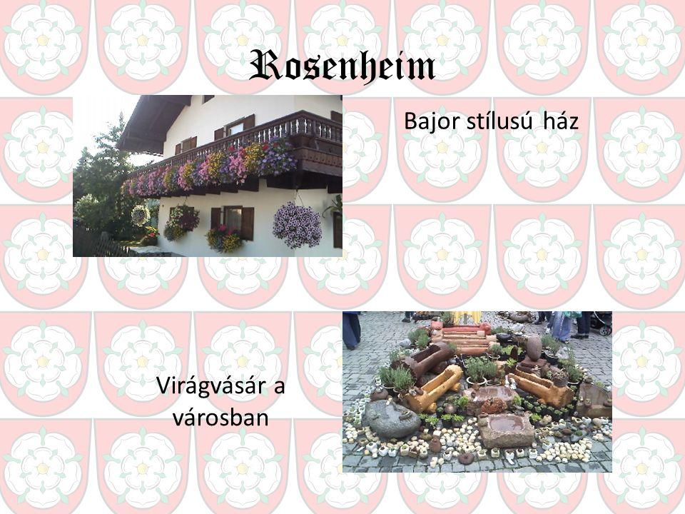 Rosenheim Bajor stílusú ház Virágvásár a városban