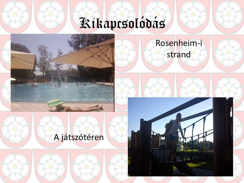 Kikapcsolódás Rosenheim-i strand A játszótéren