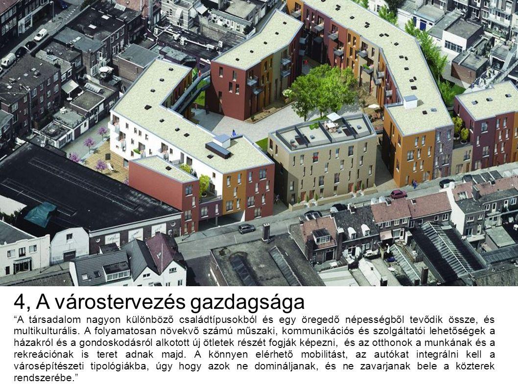 4, A várostervezés gazdagsága A társadalom nagyon különböző családtípusokból és egy öregedő népességből tevődik össze, és multikulturális.