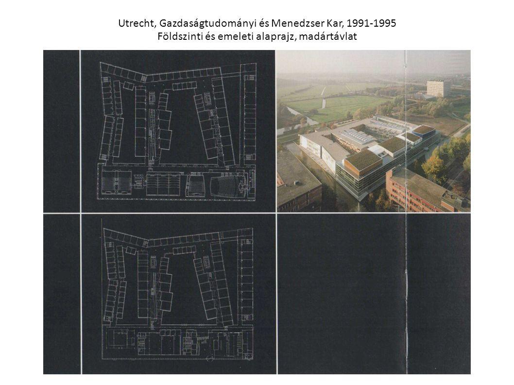 Utrecht, Gazdaságtudományi és Menedzser Kar, 1991-1995 Földszinti és emeleti alaprajz, madártávlat