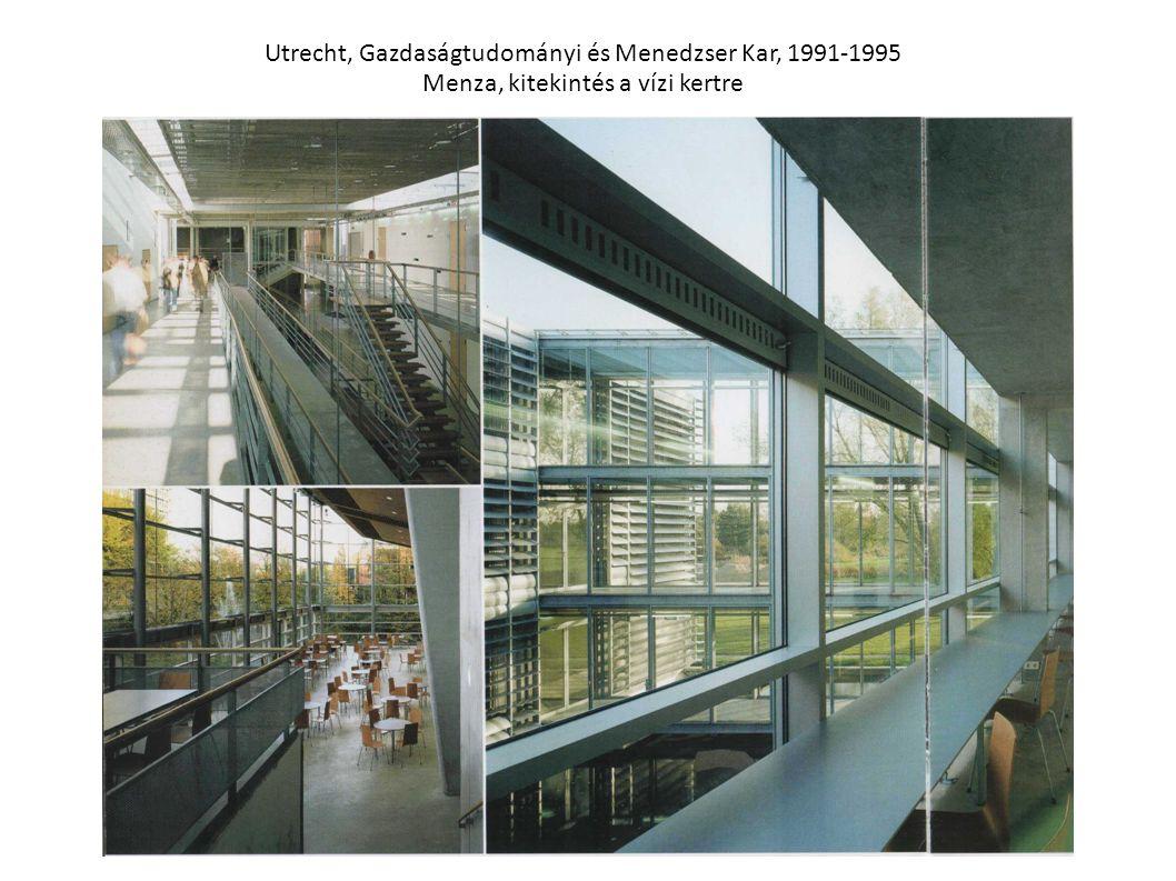 Utrecht, Gazdaságtudományi és Menedzser Kar, 1991-1995 Menza, kitekintés a vízi kertre