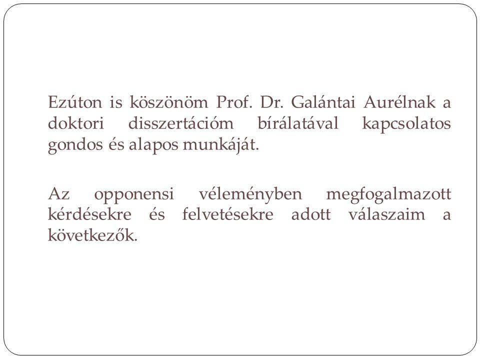 Ezúton is köszönöm Prof. Dr. Galántai Aurélnak a doktori disszertációm bírálatával kapcsolatos gondos és alapos munkáját. Az opponensi véleményben meg