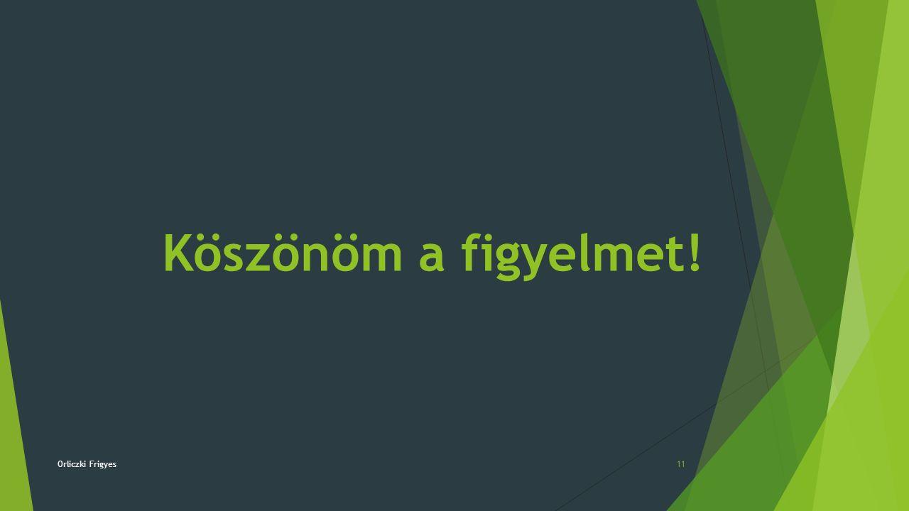 Orliczki Frigyes11 Köszönöm a figyelmet!