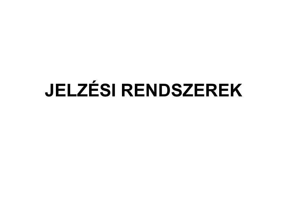 JELZÉSI RENDSZEREK