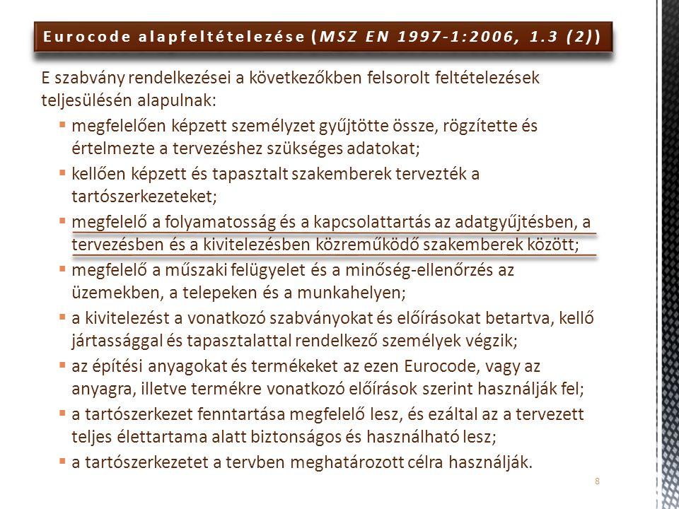 Eurocode alapfeltételezése (MSZ EN 1997-1:2006, 1.3 (2)) E szabvány rendelkezései a következőkben felsorolt feltételezések teljesülésén alapulnak:  m
