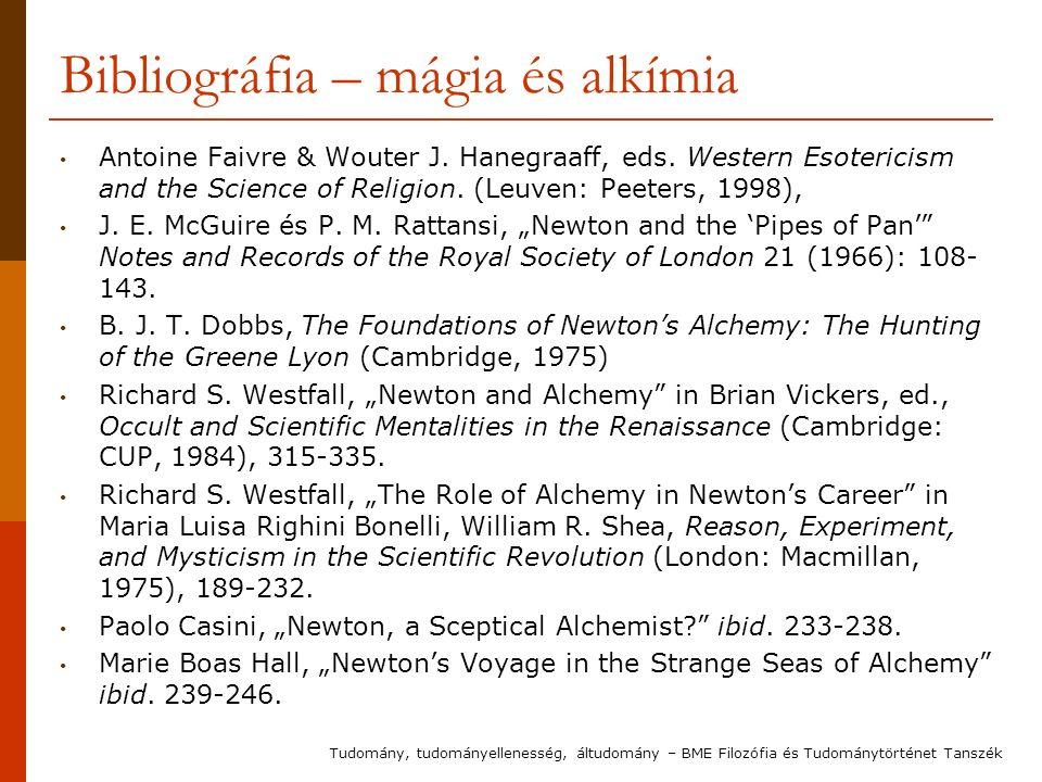 Bibliográfia – mágia és alkímia Antoine Faivre & Wouter J.