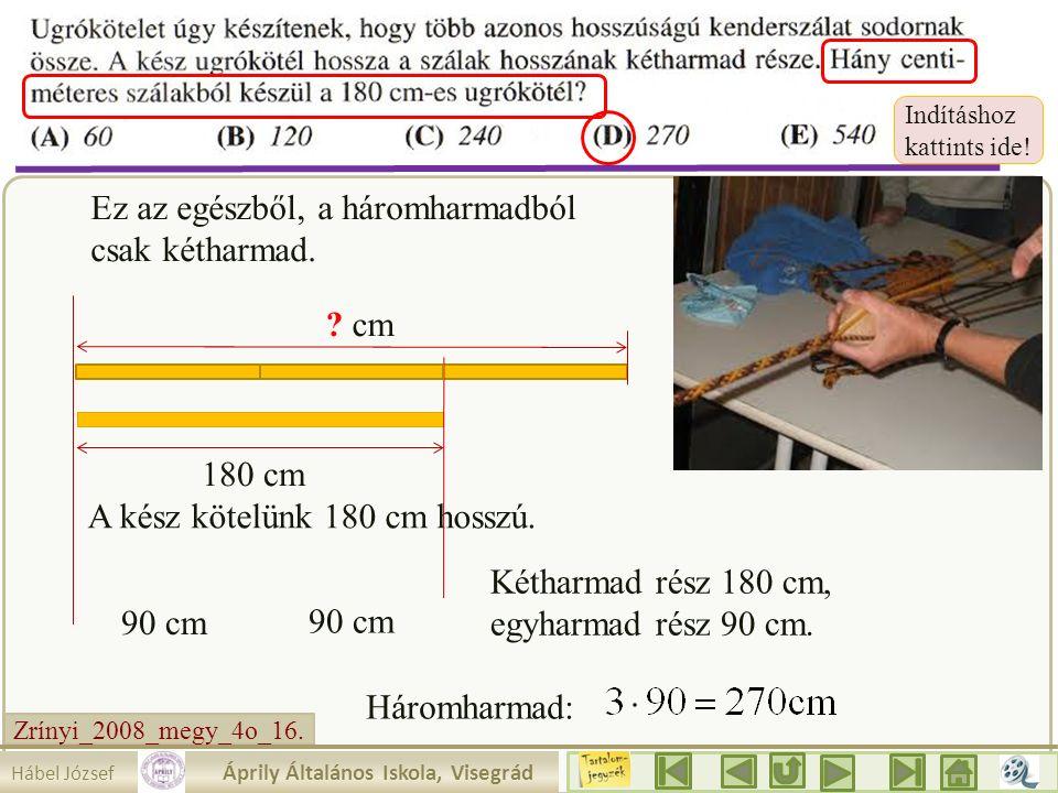 Zrínyi_2008_megy_4o_16. Írjuk be a táblázatba amit tudunk! Mit látunk ? Az egyik szám 10. 2.a. akkor a másik 2 rész. 30 Mennyit érnek az egyes részek?