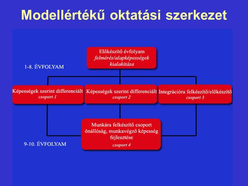 Modellértékű oktatási szerkezet