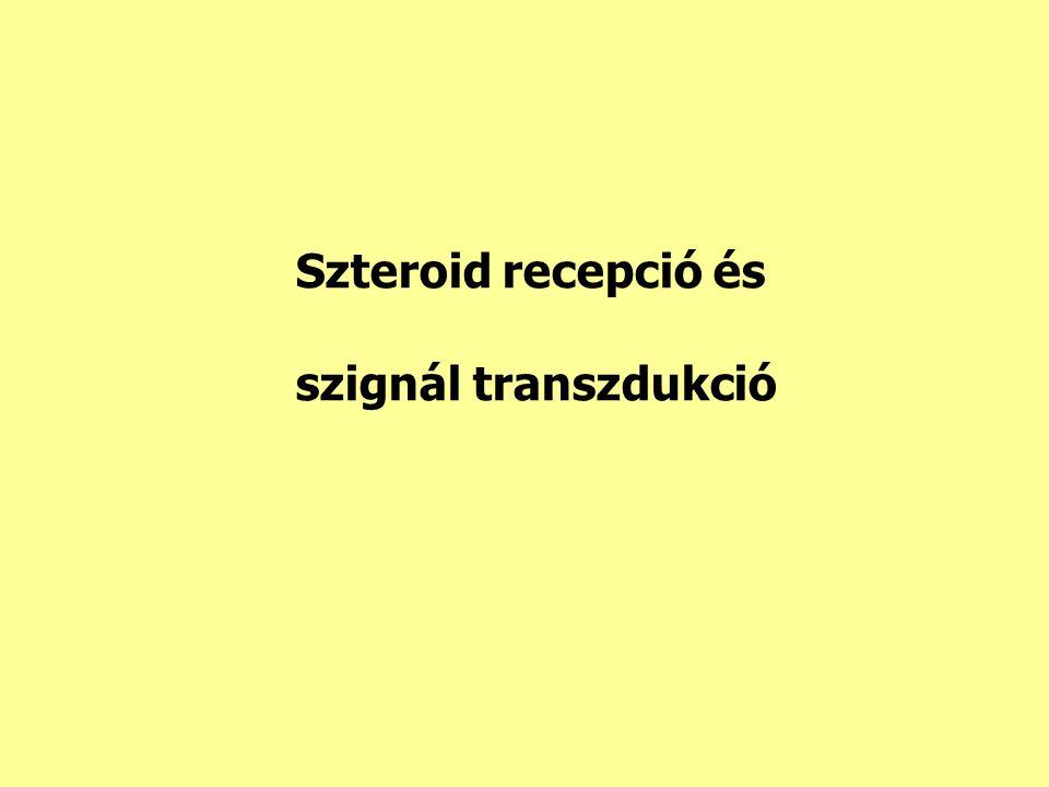 Szteroid recepció és szignál transzdukció
