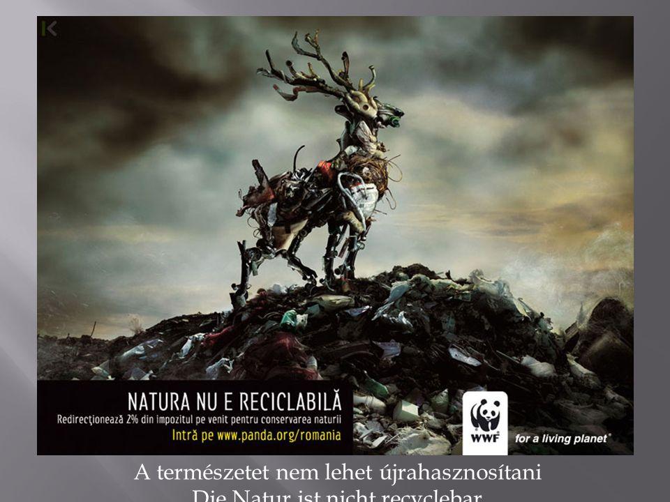 A természetet nem lehet újrahasznosítani Die Natur ist nicht recyclebar