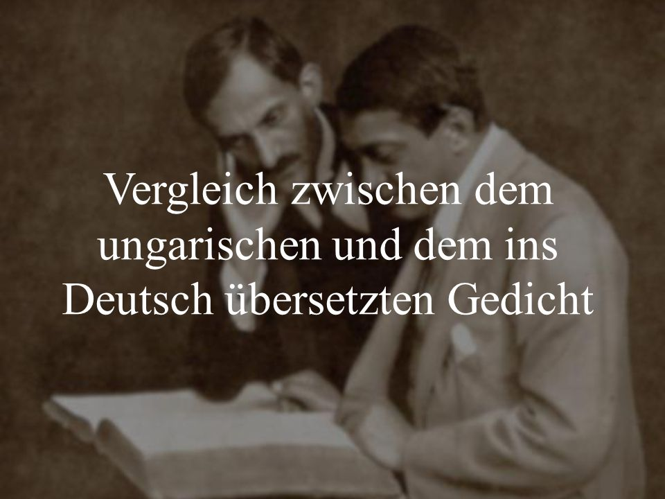 Vergleich zwischen dem ungarischen und dem ins Deutsch übersetzten Gedicht